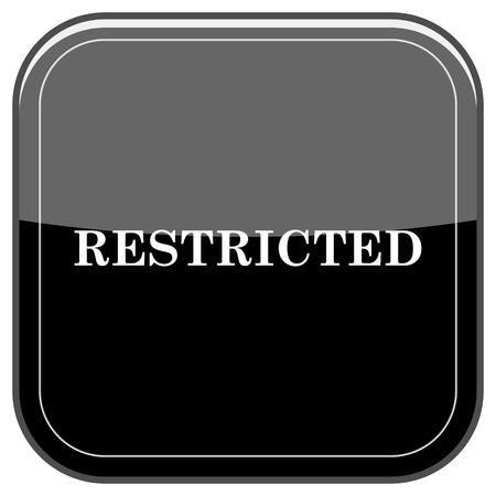 alert ribbon: Glossy shiny icon - black internet button