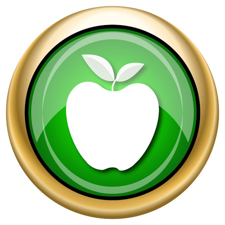 www tasty: Shiny glossy green and gold icon - internet button