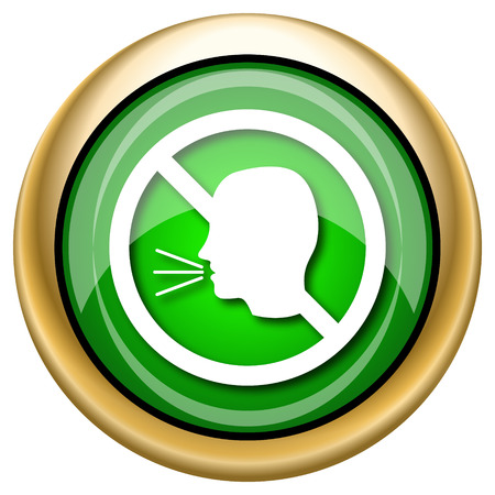 loudy: Shiny glossy green and gold icon - internet button