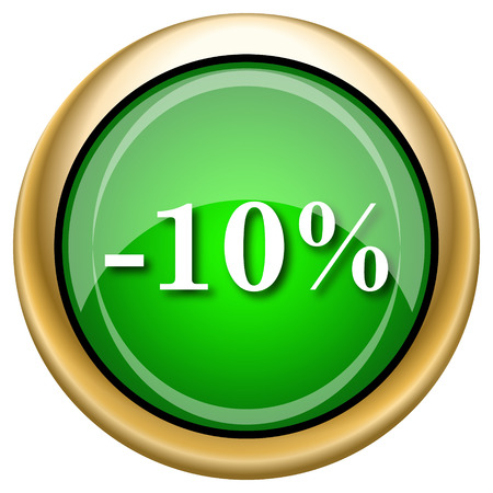 rebate: Shiny glossy green and gold icon - internet button