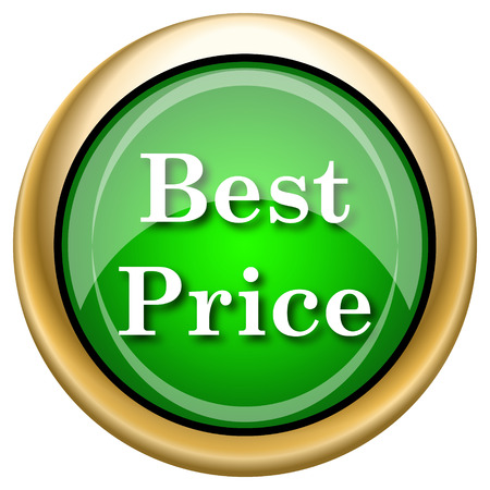 best price: Shiny glossy green and gold icon - internet button