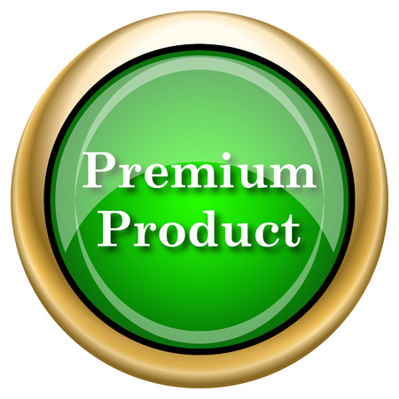 top class: Shiny glossy green and gold icon - internet button