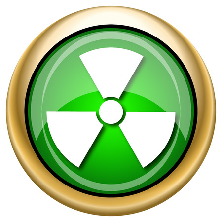 emanation: Shiny glossy green and gold icon - internet button