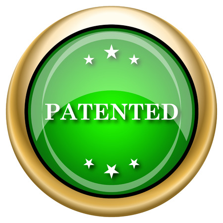 plagiarism: Shiny glossy green and gold icon - internet button