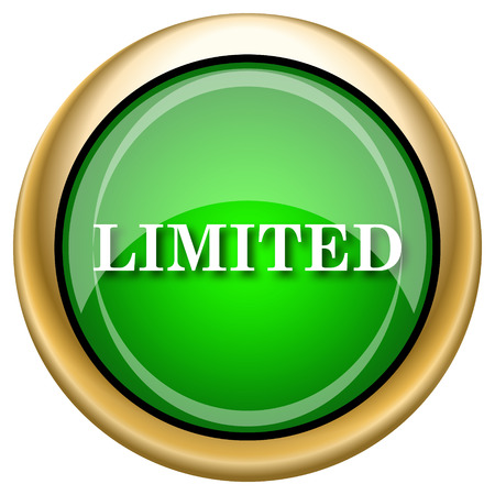 auction off: Shiny glossy green and gold icon - internet button