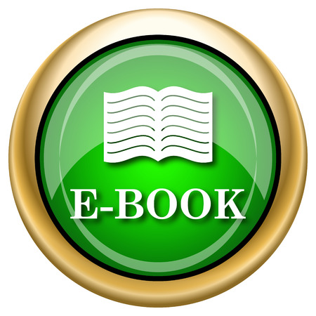 electronic publishing: Shiny glossy green and gold icon - internet button