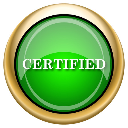 endorsed: Shiny glossy green and gold icon - internet button