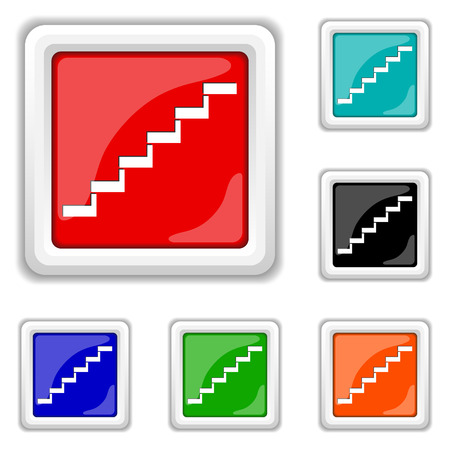 Square shiny icons - six colors vector set - eps10 photo