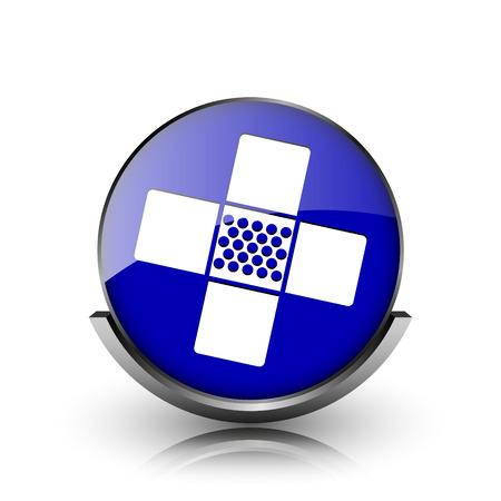 incapacity: Blue shiny glossy icon on white background