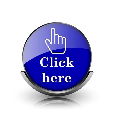 icon glossy: Blu brillante glossy icona su sfondo bianco
