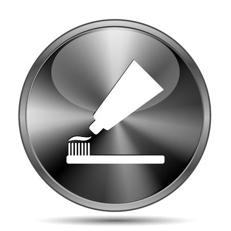 Glanzend glanzende glas pictogram op witte achtergrond
