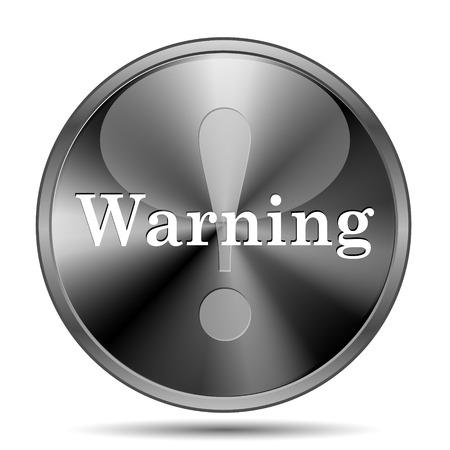 alert ribbon: Glossy shiny glass icon on white background Stock Photo