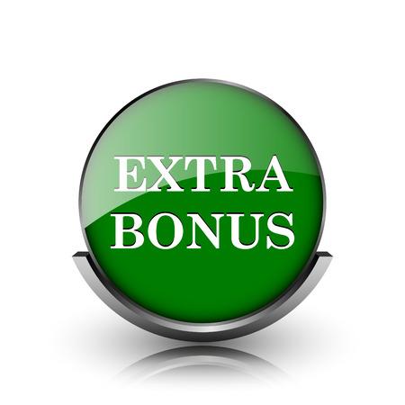 Green shiny glossy icon on white background Stock Photo