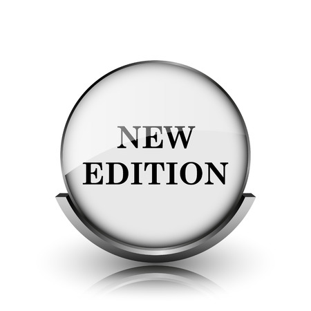 New edition icon. Shiny glossy internet button on white background.  photo
