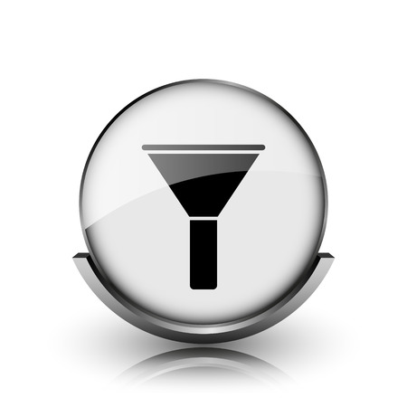 Filter icon. Shiny glossy internet button on white background.  photo