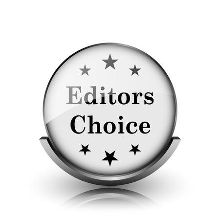 editors: Editors choice icon. Shiny glossy internet button on white background.  Stock Photo