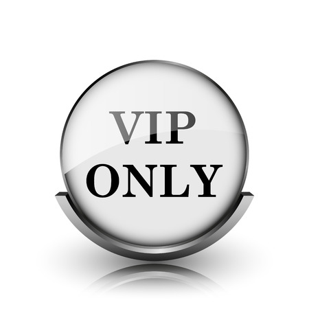 VIP only icon. Shiny glossy internet button on white background.  photo