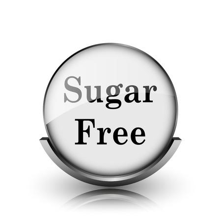 Sugar free icon. Shiny glossy internet button on white background.  photo