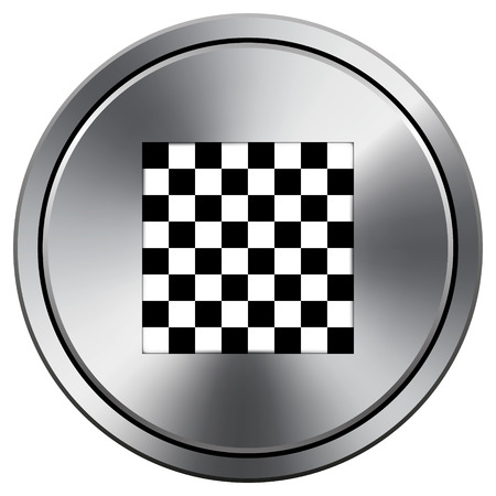 Finish flag icon. Metallic internet button on white background.  photo