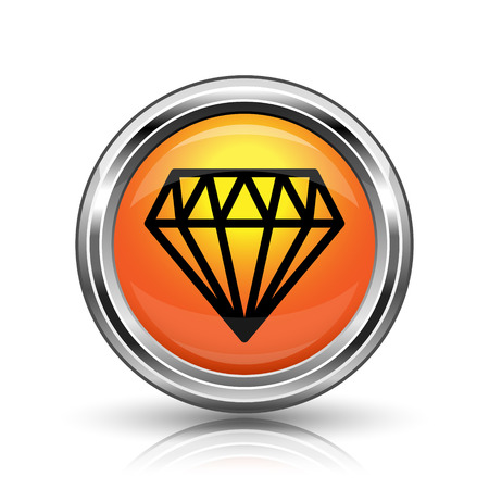 karat: Orange shiny glossy icon on white background