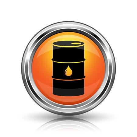 Orange shiny glossy icon on white background