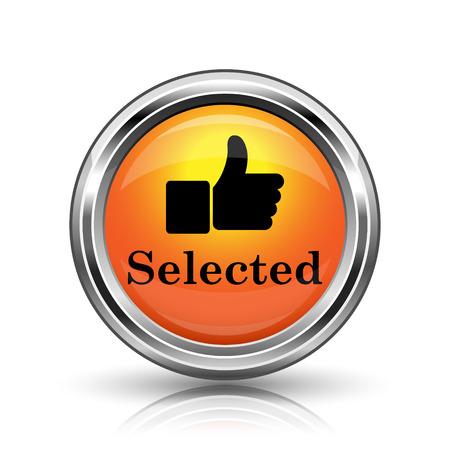 recommendations: Orange shiny glossy icon on white background
