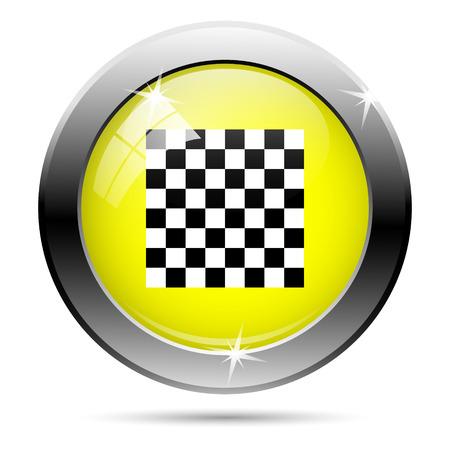 Metallic shiny glossy icon isolated on white background photo