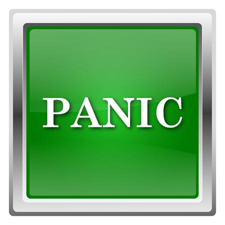 alert ribbon: Green shiny glossy icon isolated on white background Stock Photo