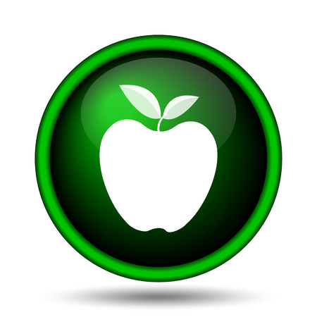 www tasty: Apple icon. Internet button on white background.