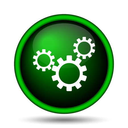 Settings icon. Internet button on white background.  photo