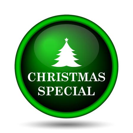 Christmas special icon. Internet button on white background.  photo