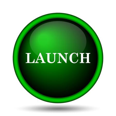 Launch icon. Internet button on white background.  photo