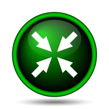 Exit full screen icon. Internet button on white background.  photo