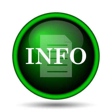 informative: Info icon. Internet button on white background.
