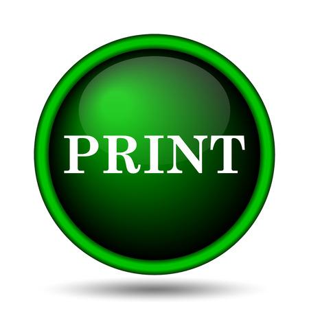 Print icon. Internet button on white background.