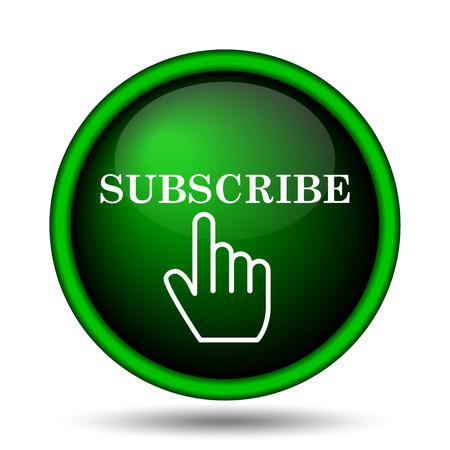 Subscribe icon. Internet button on white background.  photo