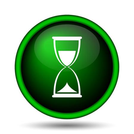 Hourglass icon. Internet button on white background.  photo