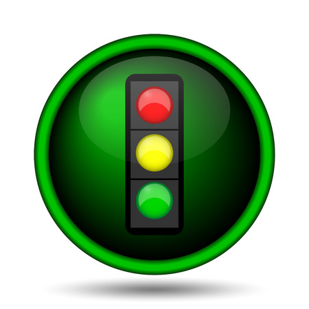Traffic light icon. Internet button on white background.  photo