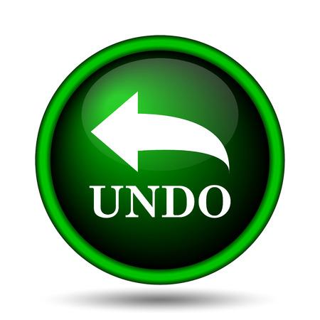 undo: Undo icon. Internet button on white background.