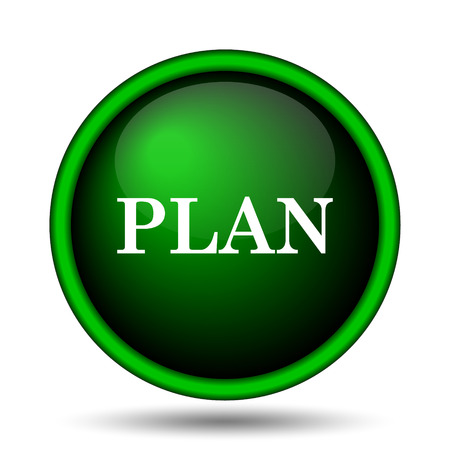 Plan icon. Internet button on white background.  photo