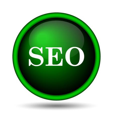 SEO icon. Internet button on white background.  photo