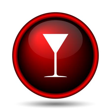 vermouth: Martini glass icon. Internet button on white background.  Stock Photo