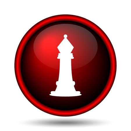 Chess icon. Internet button on white background.  photo