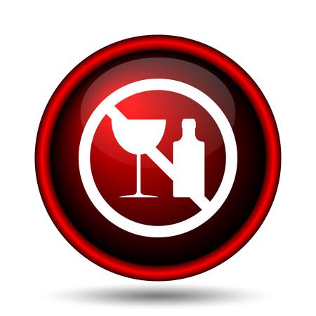 No alcohol icon. Internet button on white background.  photo