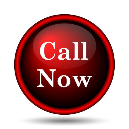 Call now icon. Internet button on white background.  photo