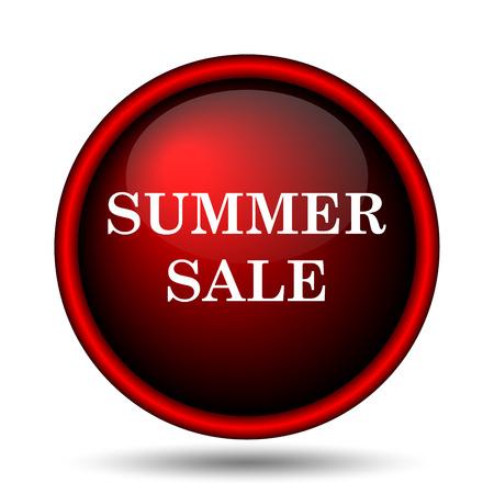 Summer sale icon. Internet button on white background.  photo