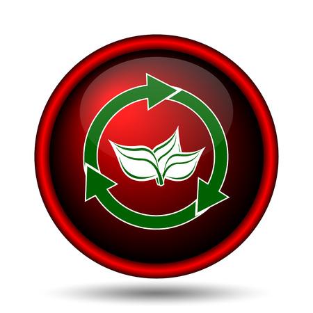 Recycle arrows icon. Internet button on white background.  photo