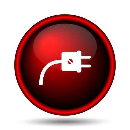 Plug icon. Internet button on white background.  Stock Photo