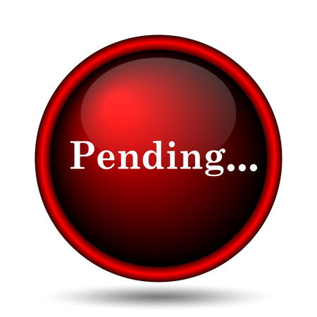 pending: Pending icon. Internet button on white background.  Stock Photo