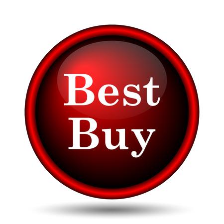 Best buy icon. Internet button on white background.  photo